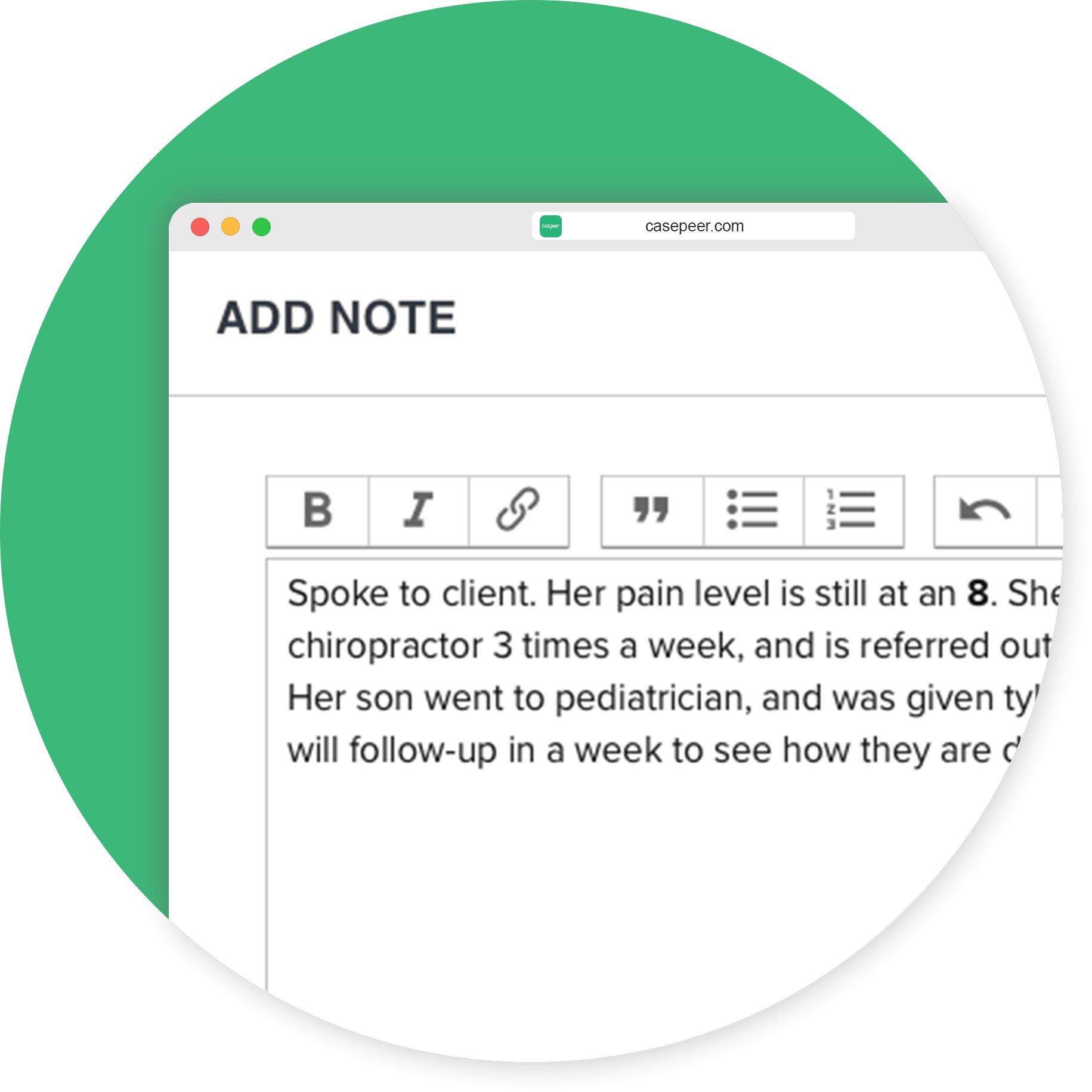 Powerful Case Notes