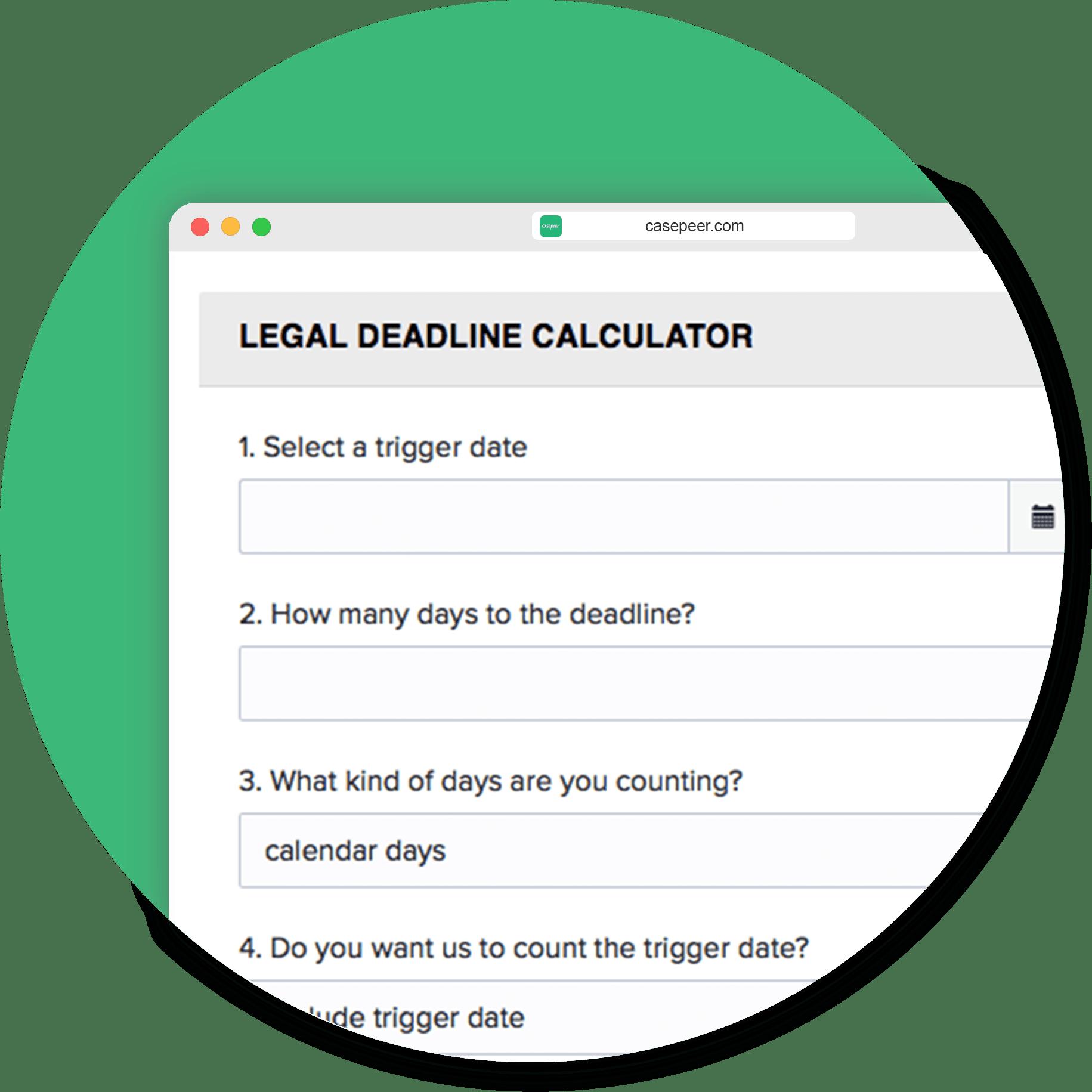 Legal Deadline Calculator