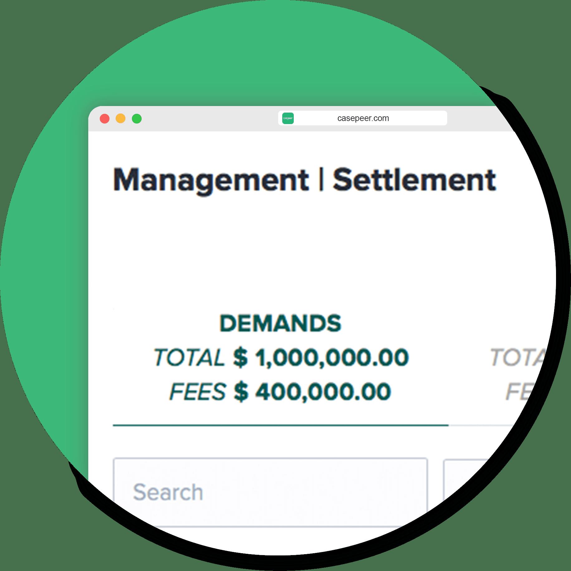 Firm Wide Settlement Report
