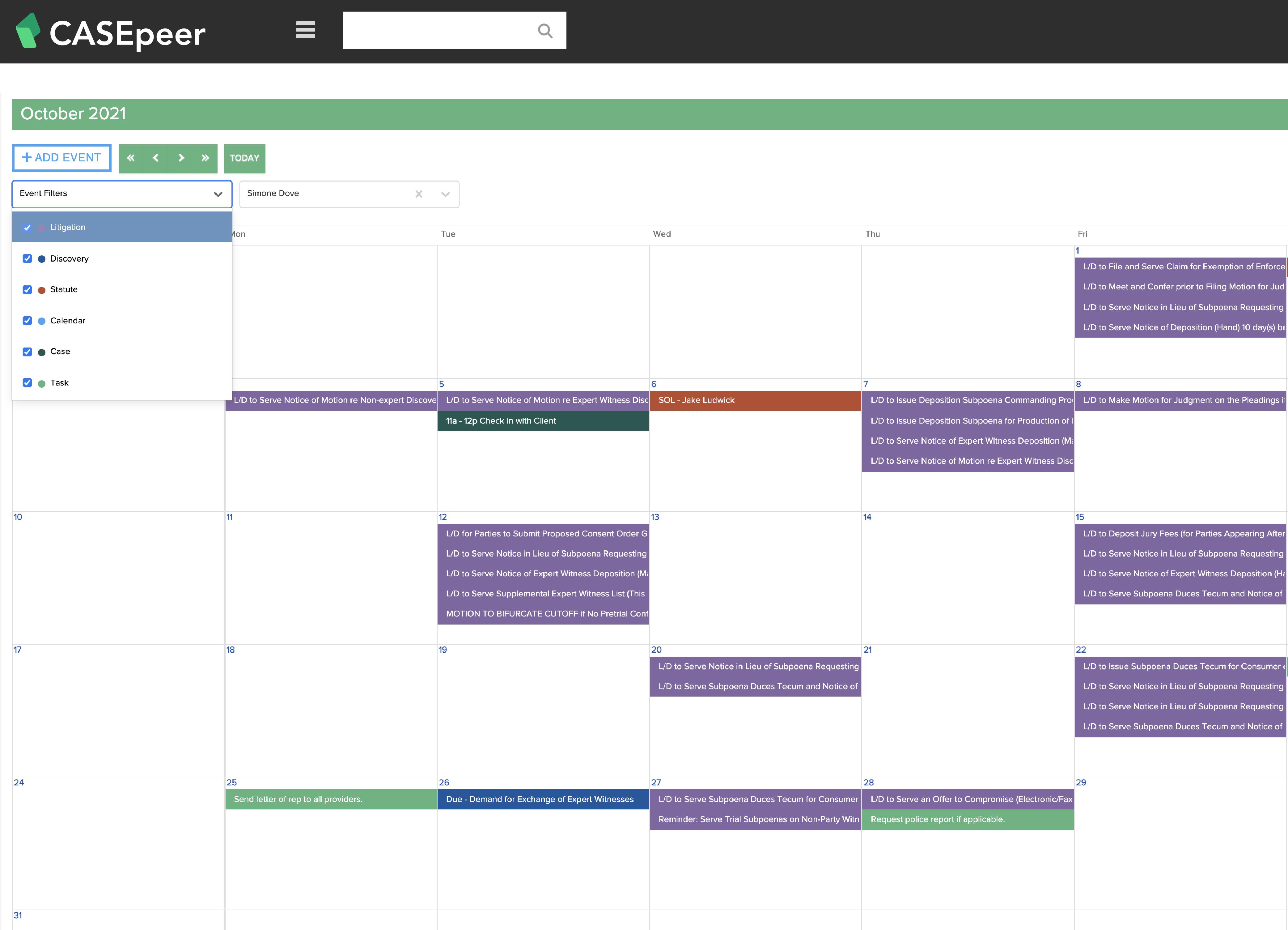 Integrated Calendar & Timelines
